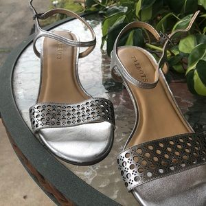 Silver Talbots shoes .